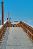 Fot- pir på fortet Myers Beach Florida Fotografering för Bildbyråer