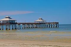 Fot- pir på fortet Myers Beach Florida Royaltyfri Bild