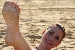 fot sand Royaltyfria Bilder
