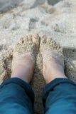 fot sand Arkivbilder