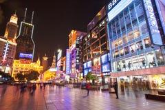 fot- shanghai gata för 2 nanjing Fotografering för Bildbyråer