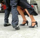 fot tango Arkivbilder