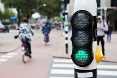 Fot- trafikljus Arkivbild