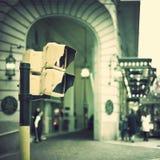 Fot- trafikljus Fotografering för Bildbyråer