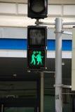 Fot- trafikljus i Wien royaltyfria bilder