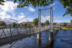 Fot- upphängningbro Royaltyfria Foton