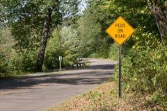 Fot- vägsäkerhetstecken Royaltyfri Bild