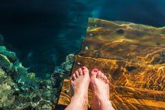 fot vatten Arkivbild