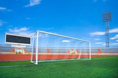 Fotball soccer stadium on blue sky Stock Photography