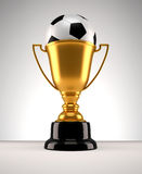 Fotball trophy Royalty Free Stock Image