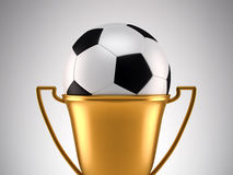 Fotball trophy Royalty Free Stock Images