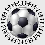 fotboll över hela världen Fotografering för Bildbyråer