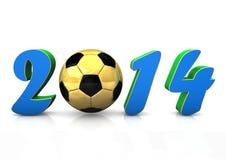 fotboll 2014 Arkivfoton