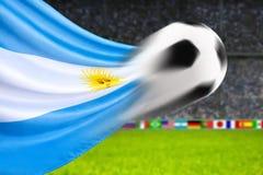 Fotboll Argentina Arkivbild