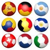 fotboll 3d klumpa ihop sig stock illustrationer