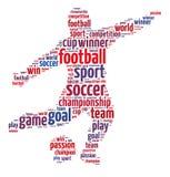 Fotboll; Den mest berömda sporten på jord arkivbilder
