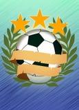 Fotboll- eller fotbollbakgrund Fotografering för Bildbyråer