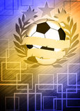 Fotboll- eller fotbollbakgrund Royaltyfria Foton