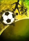 Fotboll- eller fotbollbakgrund Royaltyfria Bilder