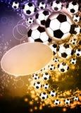 Fotboll- eller fotbollbakgrund Royaltyfri Fotografi
