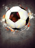 Fotboll- eller fotbollbakgrund Royaltyfri Bild