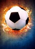 Fotboll- eller fotbollbakgrund Royaltyfri Foto