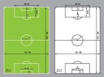Fotboll- eller fotbollfältformat Royaltyfri Foto