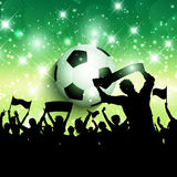 Fotboll- eller fotbollfolkmassabakgrund 1305 Royaltyfri Foto