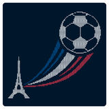 Fotboll- eller fotbollFrankrike euro 2016 Symbolsdesign royaltyfri illustrationer