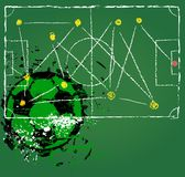 Fotboll- eller fotbolltaktik Royaltyfri Foto