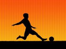fotboll för 2 bakgrund Royaltyfria Bilder