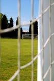 fotboll för 2 fält Arkivfoton
