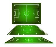 fotboll för 2 fält Royaltyfria Foton