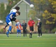 fotboll för 2 högstadium Royaltyfri Fotografi