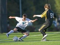 fotboll för 2 spelare Arkivfoto