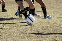 fotboll för 2 uppgift Arkivfoton