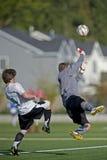 fotboll för 2 vårdare Royaltyfri Bild