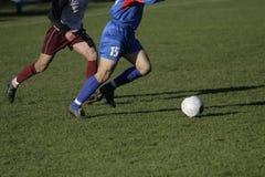 fotboll för 3 closeup Arkivbild