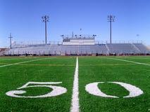 fotboll för 3 fält Arkivbilder