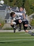 fotboll för 3 vårdare Arkivfoton