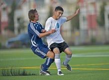 fotboll för 4 sammanstötning Royaltyfri Foto