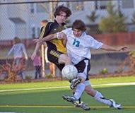 fotboll för 4 spelare Royaltyfri Foto