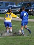 fotboll för baddamtoalettmud Royaltyfri Fotografi