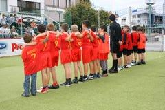 fotboll för barn s Royaltyfria Bilder