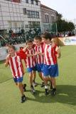 fotboll för barn s Royaltyfria Foton