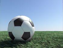 fotboll för boll 3d Arkivfoton