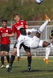 fotboll för bollcykelKanada kick royaltyfri bild