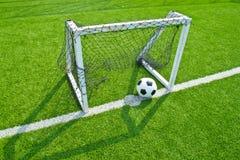 fotboll för bollgräsgreen Fotografering för Bildbyråer