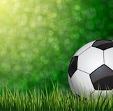 fotboll för burning exponeringsglas för aquaboll vektor Arkivbild
