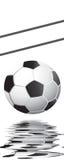 fotboll för burning exponeringsglas för aquaboll Arkivbild